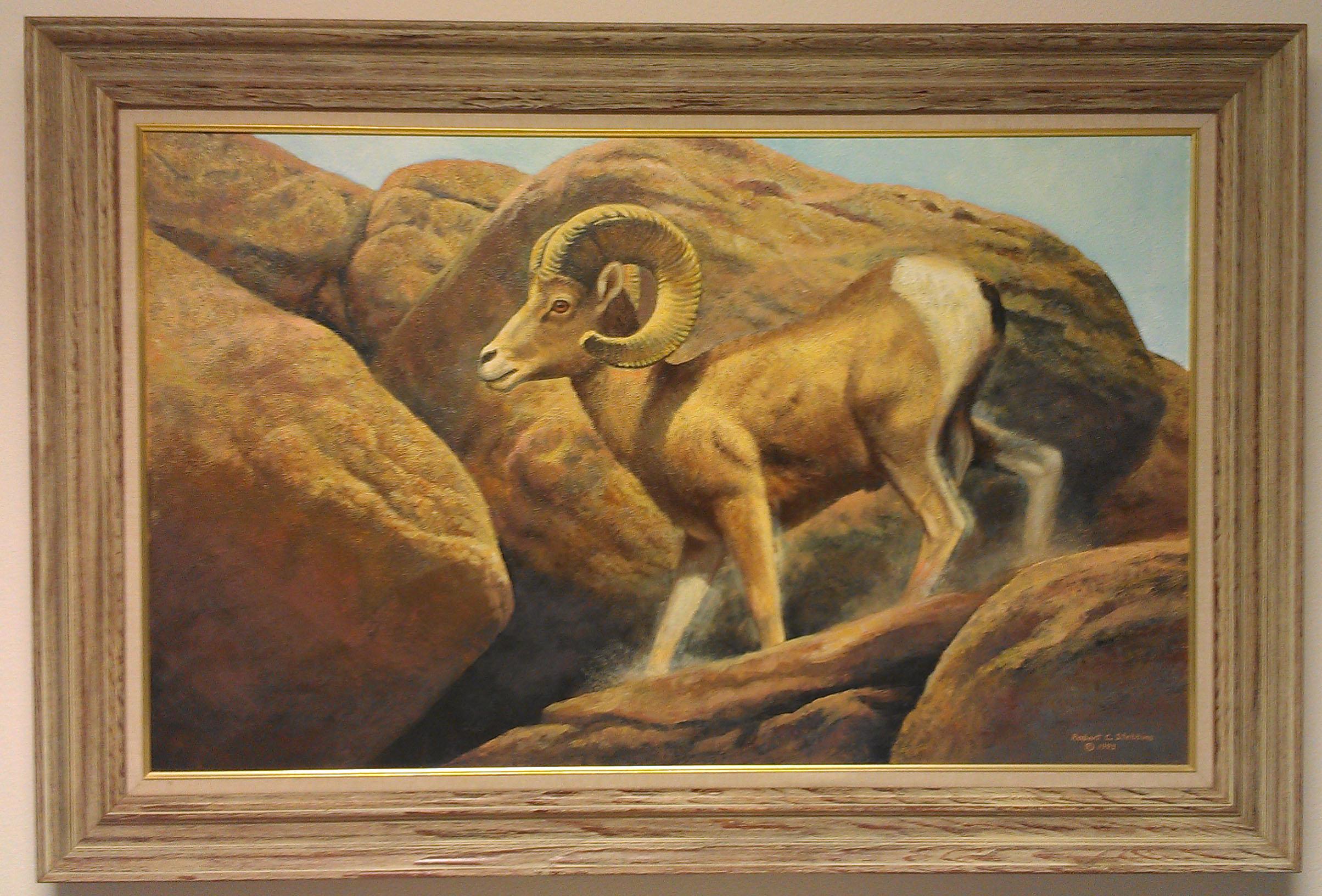 Stebbins oil painting, 1993
