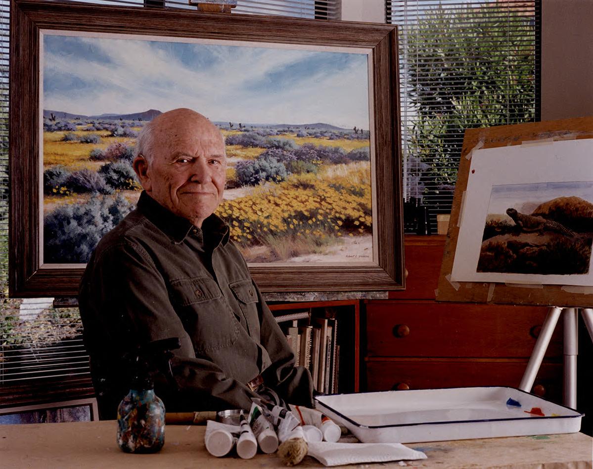 Robert C. Stebbins, taken at his home studio by Charles Brown, 2004.